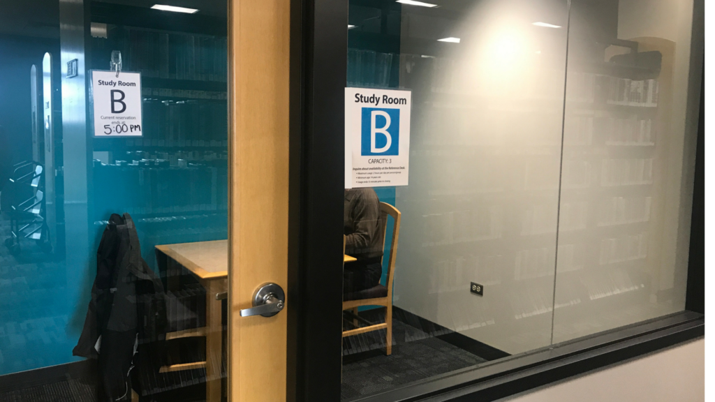 study room B in use